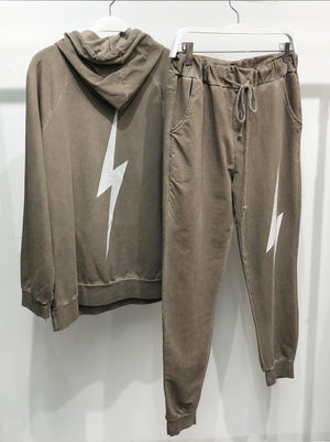 lighting mockha jogger & hoddie set 26 dic