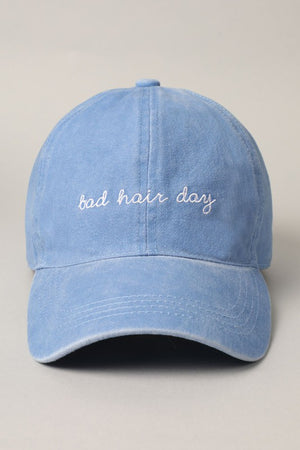 light denim bad hair day hat