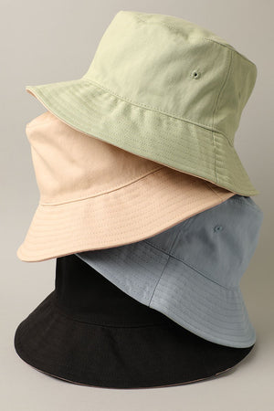 dusty blue color block bucket hat 24 feb