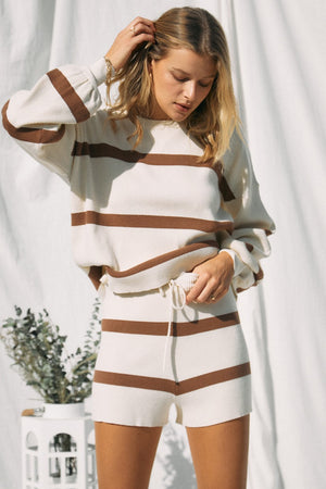 latte & coffe striped knitted set 24 feb