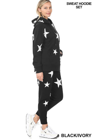 black stars hoddie loungewear 27 feb