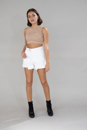 white assymetrical skort 7 feb