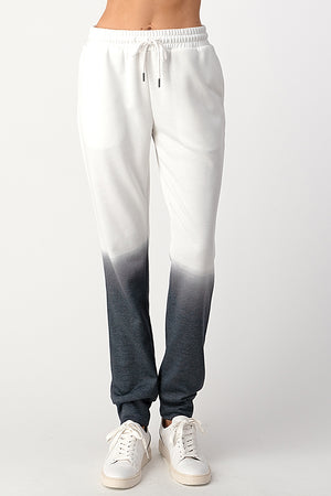 grey & white tie dye jogger set