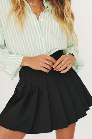 blaxk plaid skirt