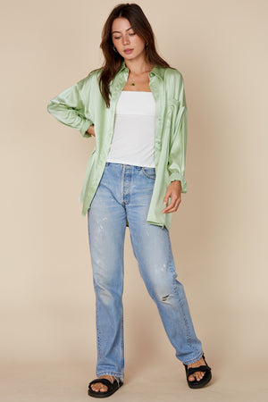 mint silk shirt