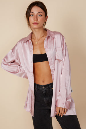 blush silk shirt