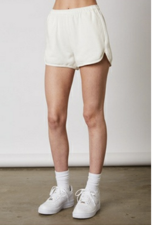 Eco friendy white pullover & shorts set