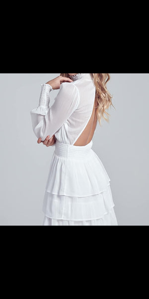 white smocked dress