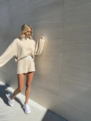 nude color block loungewear