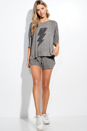 Grey lighting shorts set  1 mayo