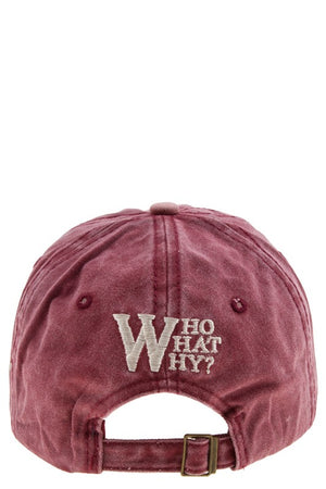 W patched hat
