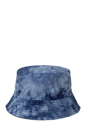 tie dye blue bucket hat