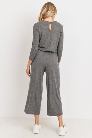 charcoal cullote jumpsuit