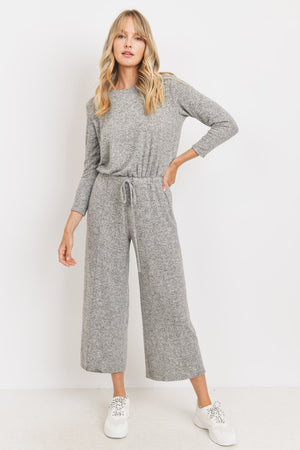 grey cullote jumpsuit