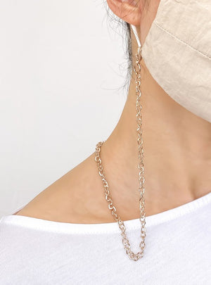 gold chain for face mask