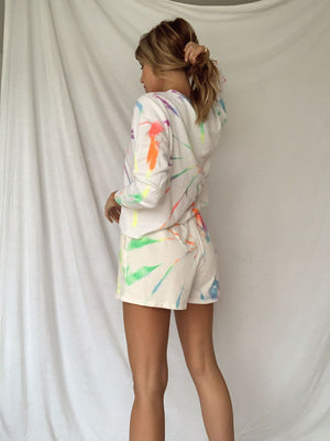 Tie dye pullover & shorts