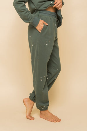 teal loungewear jogger set