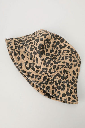 leopard brown bucket hat