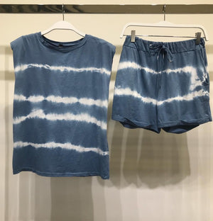 blye tie dye muscle tshirt & shorts set
