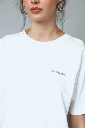 Los Angeles embroidery tshirt 12 oct