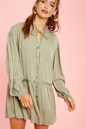 olive ruffled dress 18 oct