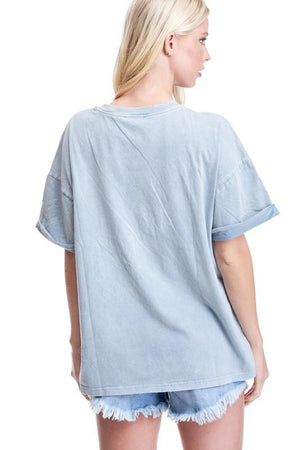 faith oversize l blue tshirt