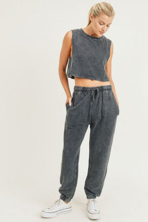mineral washed ribbed crop top 18 oct