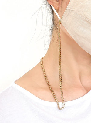 gold box shaped chain holder for face mask 4nov