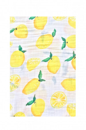 lemon 100% organic cotton blanket
