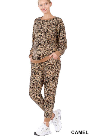 leopard loungewear set
