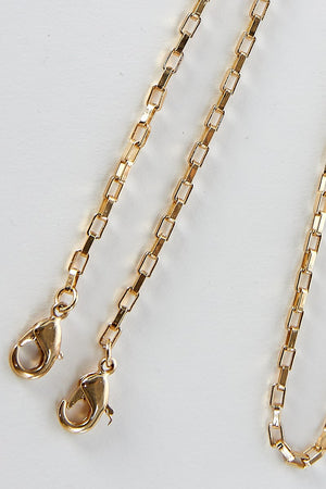 gold chain holder for face mask