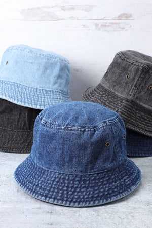 light denim bucket hat