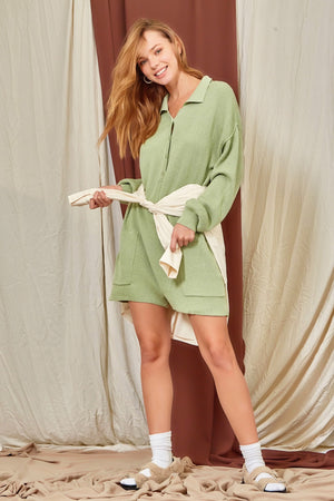 mint knitted romper 14 feb