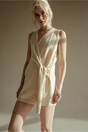 Cream knit dress 1 agosto