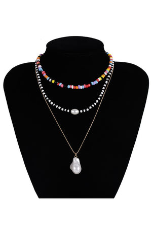 pearl & beads necklace