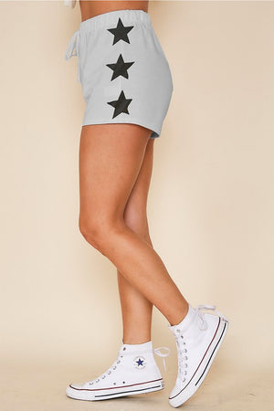 Grey & Black printed stars shorts set 1 agosto