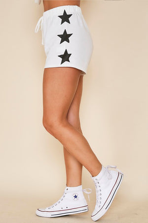 White & black  printed stars set