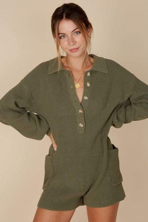 olive knitted romper 20 enero