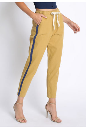 Twill mustard and navy Pants