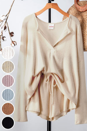 Cream cozy loungwear