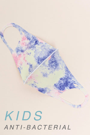 Bold tie dye  kids face mask