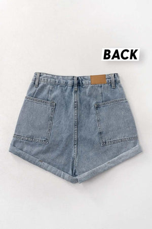 denim studded shorts 12 nov