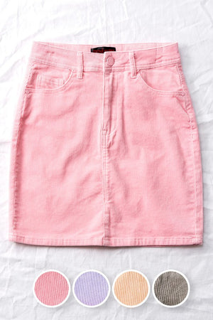 pink courduroy skirt