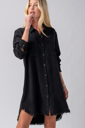 charcoal tencel dress 12nov
