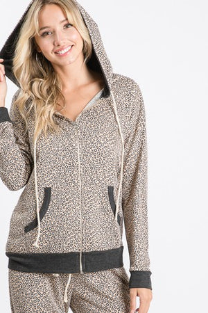Animal print drawsting hoddie & jogger 13 agosto