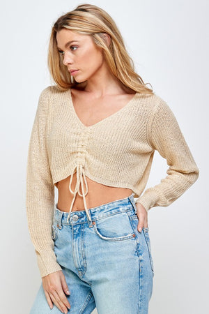 taupe knit top