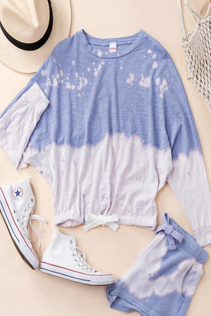 lilac tie dye pullover & Shorts