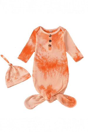 orange tie dye baby sleep sack