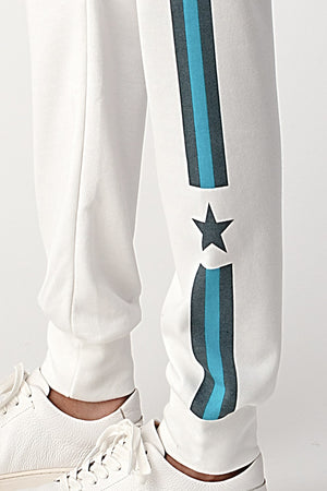 cropped stripes & stars jogger set 28 sept