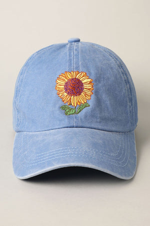 denim sunflower hat 22 oct